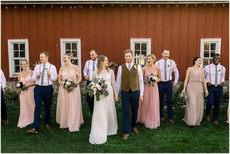 Beautiful bridesmaids at off beat wedding