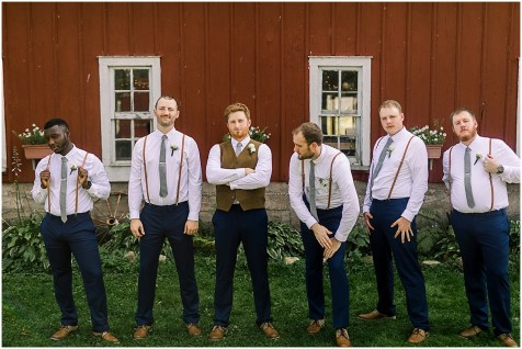 bridal party at off beat wedding in minneapolis area