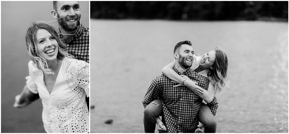 Trendy Boom Island Park Engagement Session