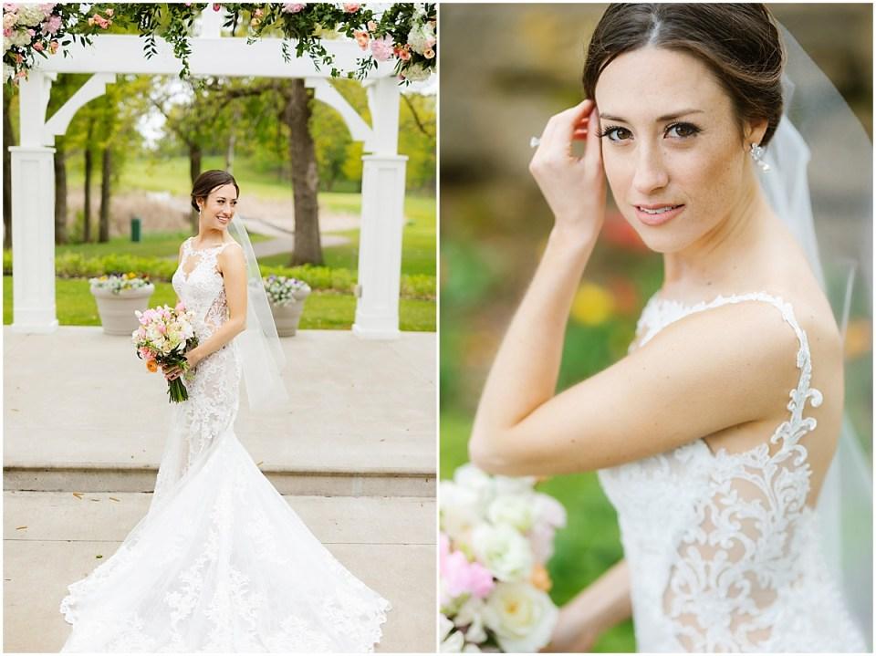 Bearpath Country Club Spring  Wedding bridal portrait