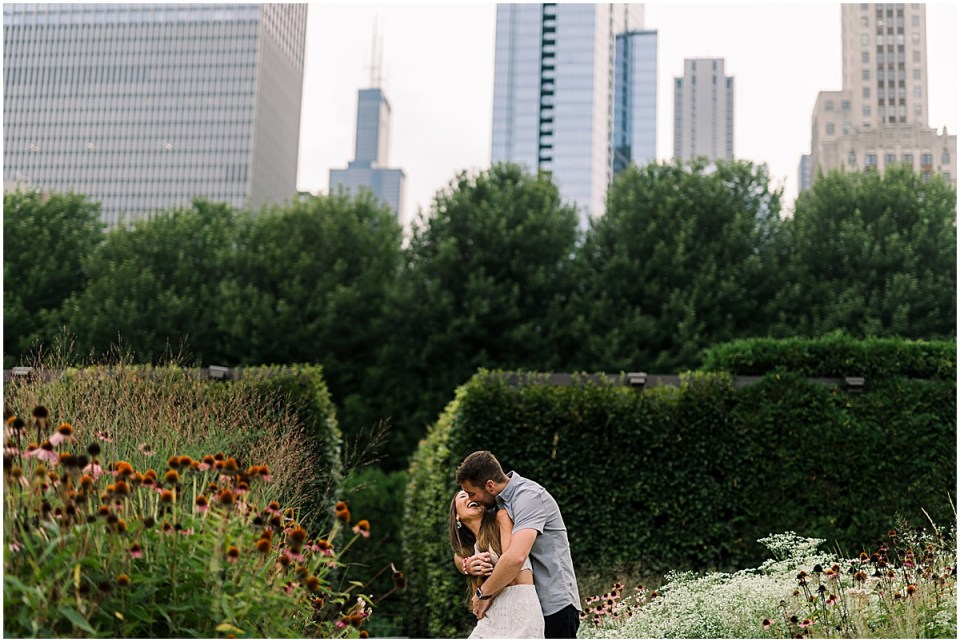 Chicago Destination Engagement Session Travel Cameron and Tia Photography Lurie Gardens