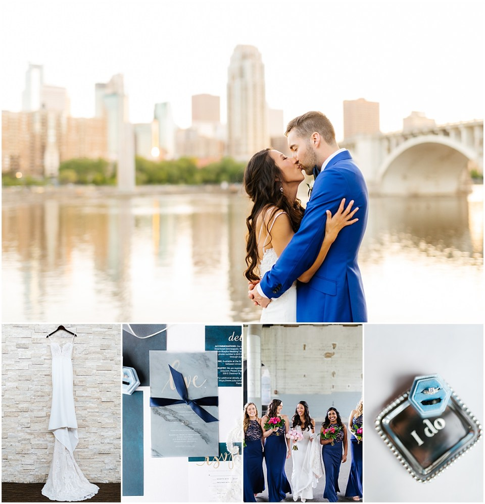 Minneapolis Event Center St Anthony Main Spring Wedding