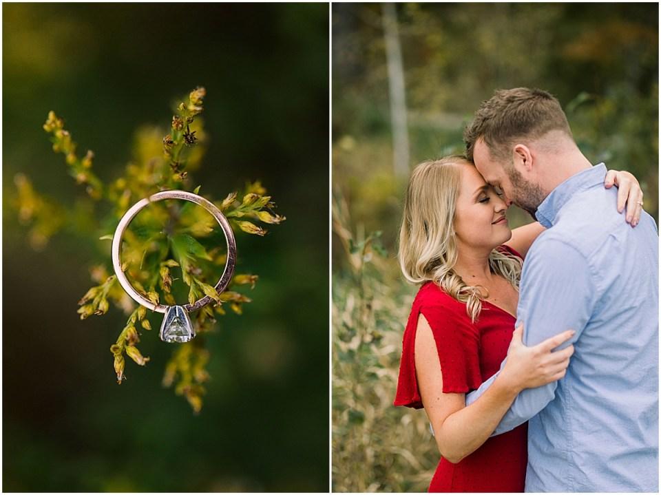 Fall Engagement Ring Shot