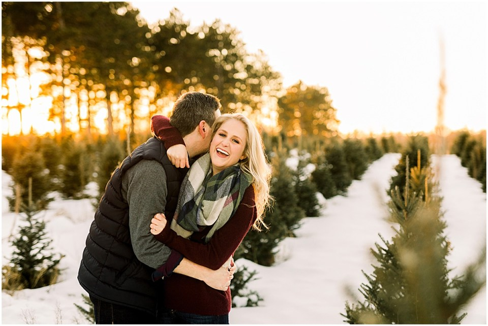 Winter Hansen Tree Farm Session  withsweaters vests and scarves