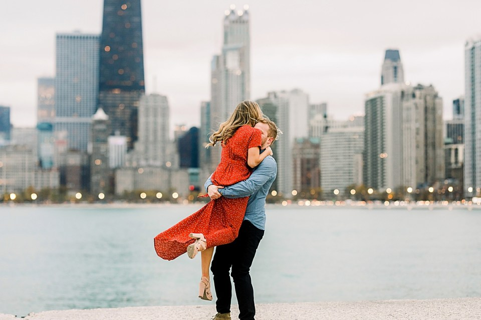 North Ave Chicago Beach Engagement Session