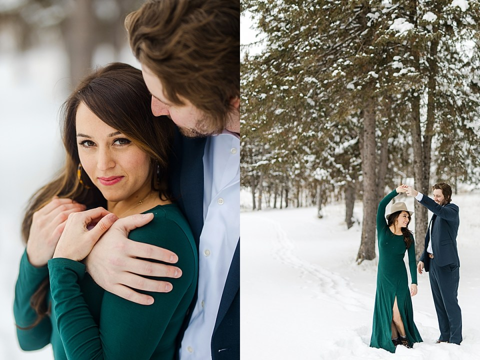 Hansen Tree Farm engagement session