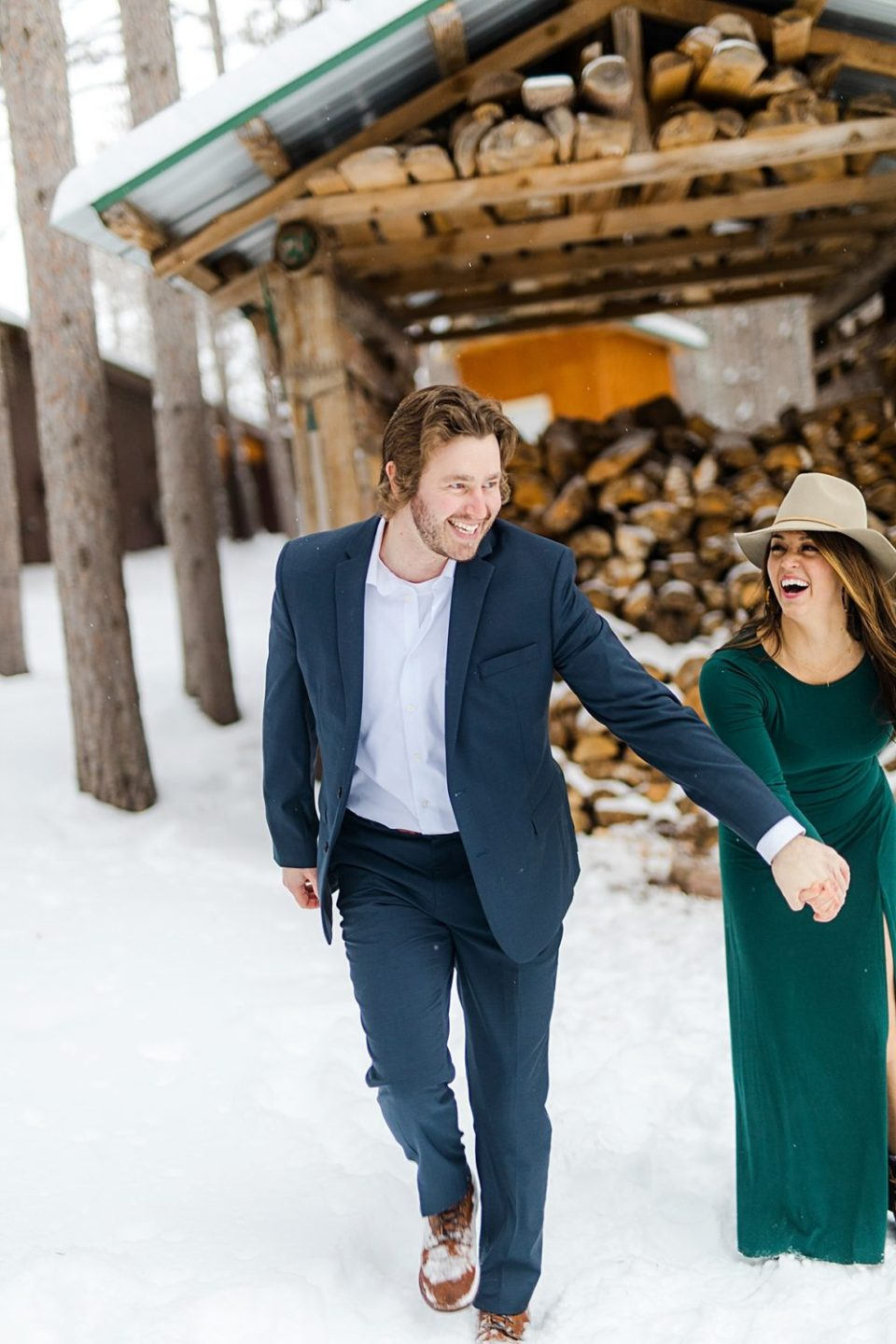 Hansen Tree Farm Winter Engagement Session