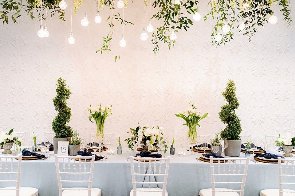 Blaisdell European Garden Reception set up