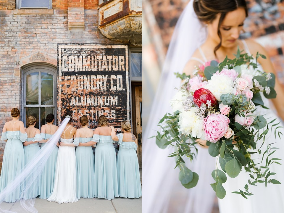 Aria Mpls Industrial Wedding with Veil
