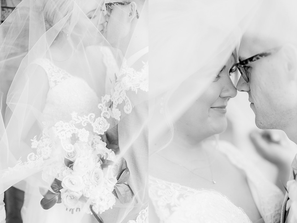 Light and airy first look veil photos