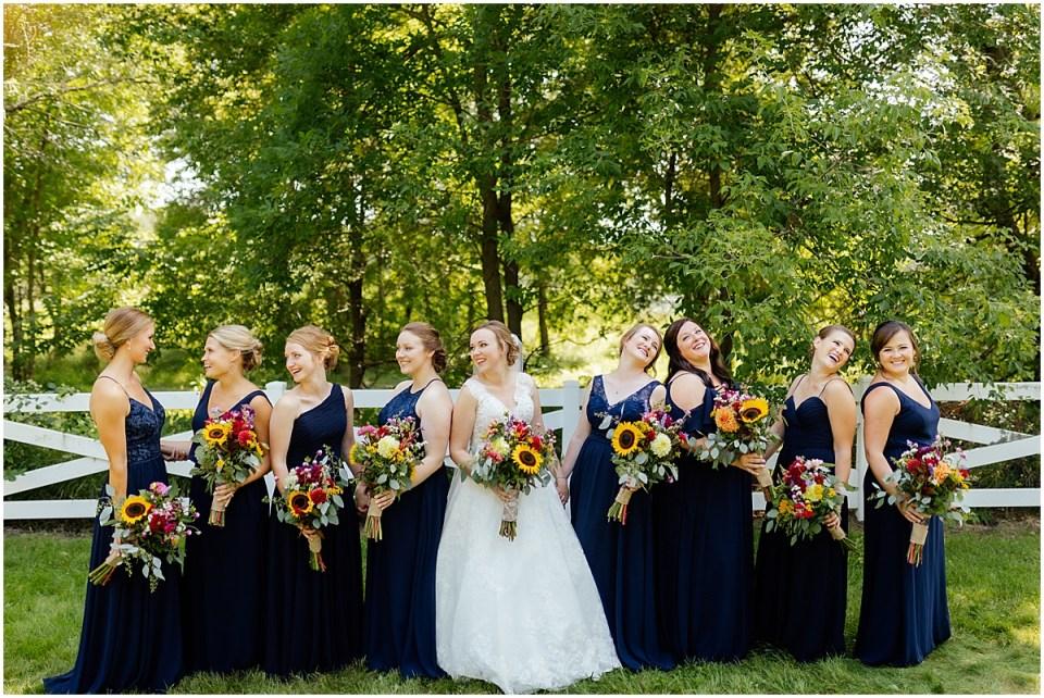 Erickson farmstead bridesmaids
