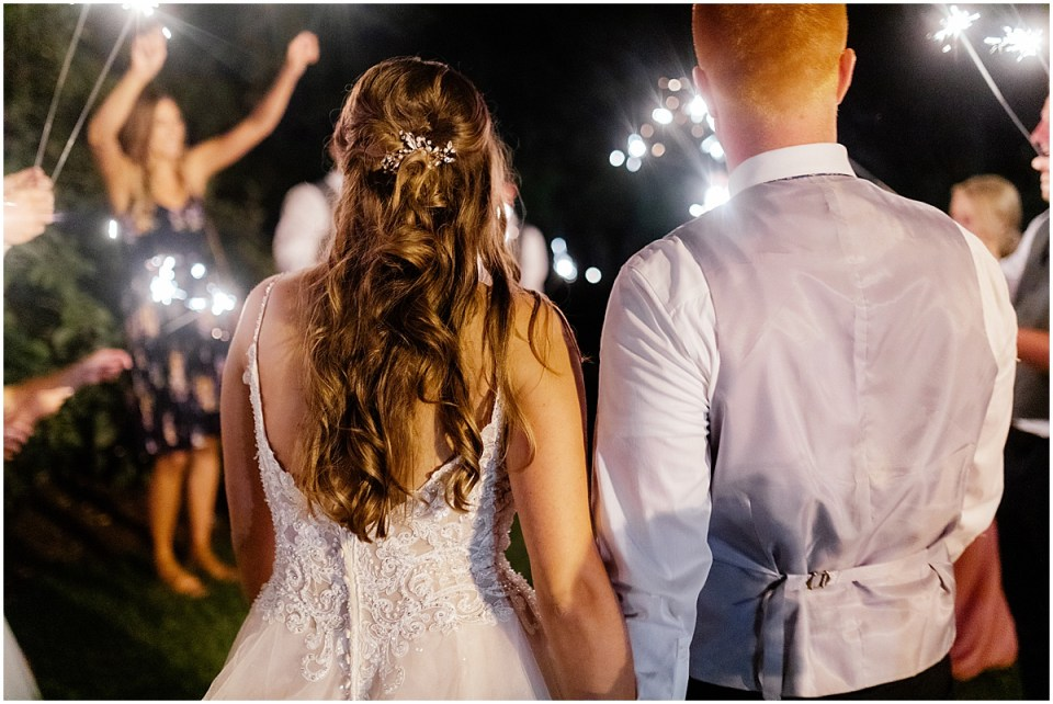 Sparkler exit in minnesota wedding