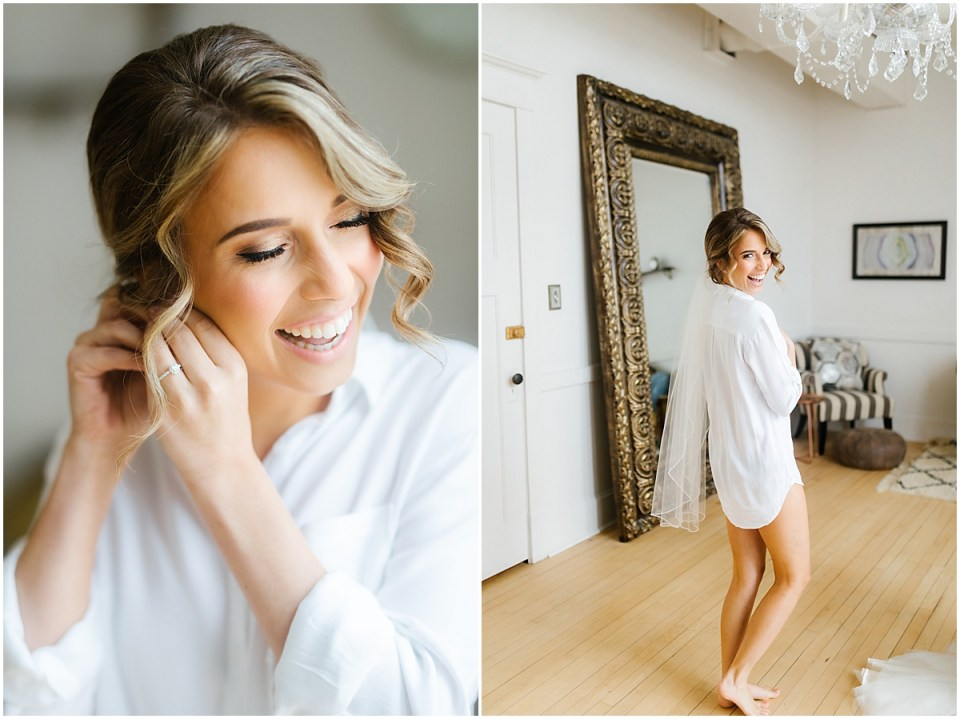 cute getting ready attire for a Capitol Room bride