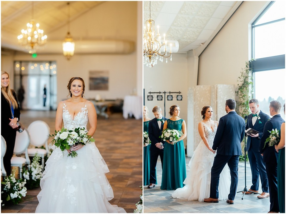 Dismissing wedding traditions walking down the aisle by herself