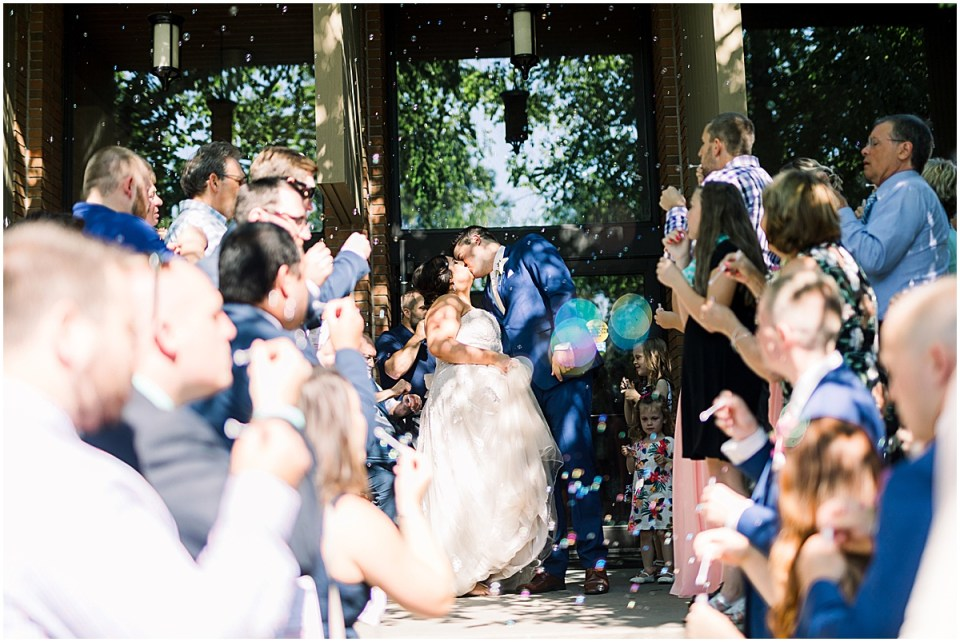 Bubble wedding day exit