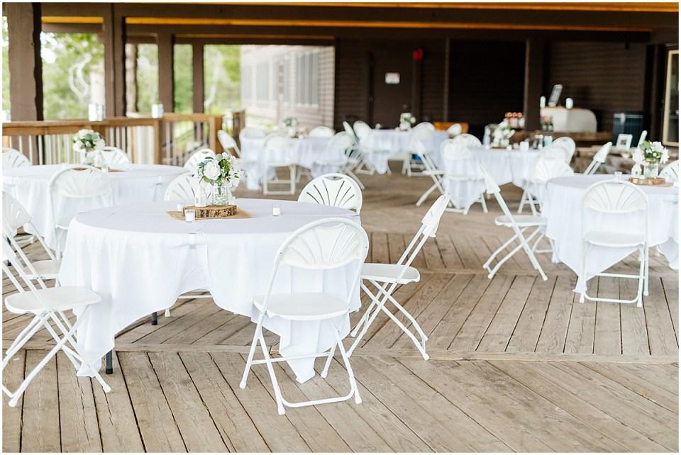 Madden's on Gull Lake Resort Wedding on the patio