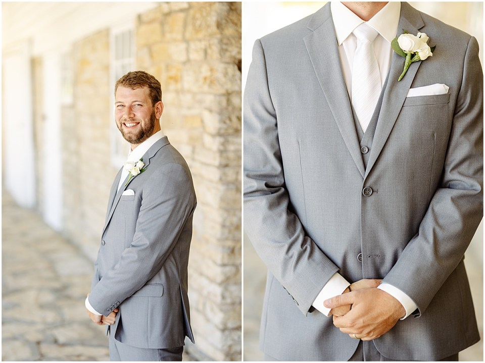 Grooms portraits at Mayowood Stone Barn, Rochester MN