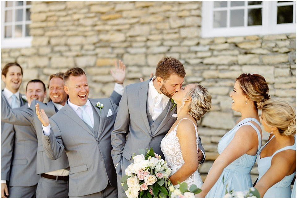 Bridal party outdoor photos Mayowood Stone Barn, Rochester MN