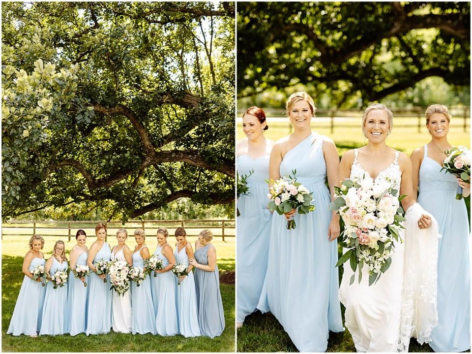 Bridesmaids Azazie dresses photos at Mayowood Stone Barn