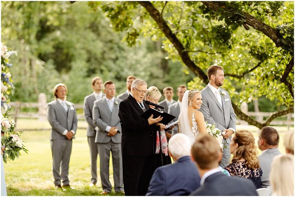 Ceremony at Mayowood Stone Barn, Rochester MN