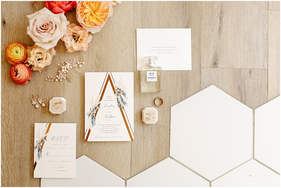 Invitation suite at Pinewood Weddings & Events