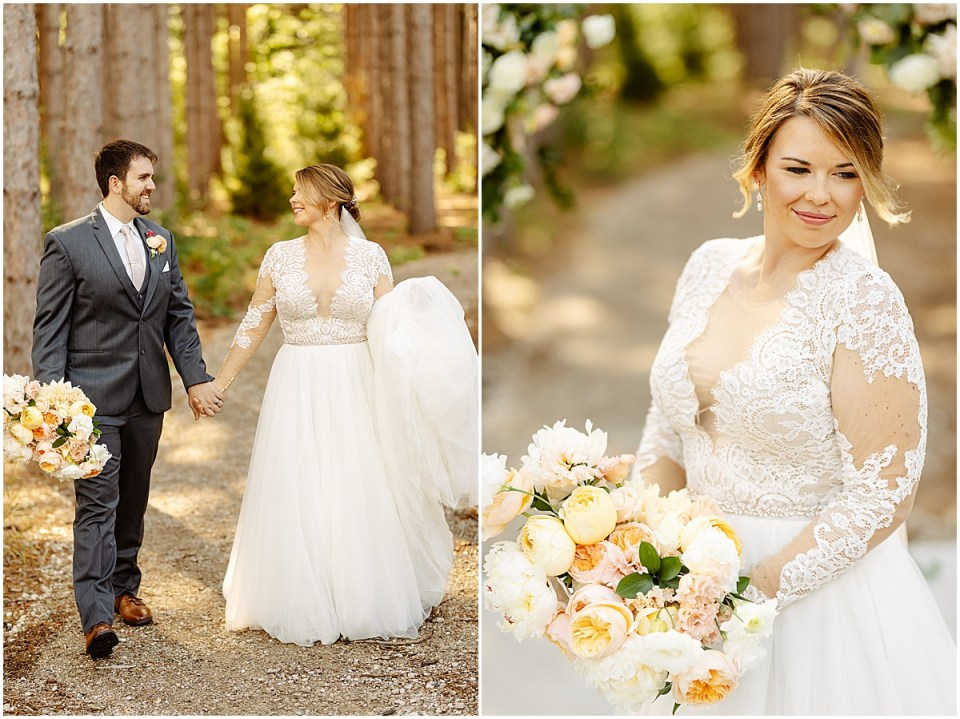 first lookt at Pinewood Weddings & Events