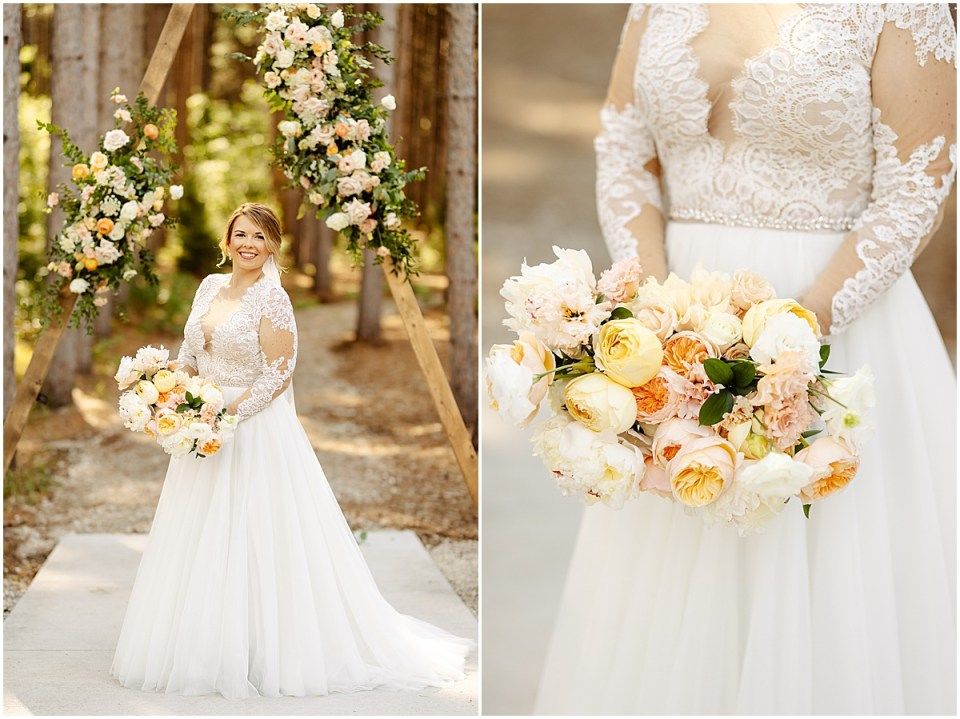 the wedding shoppe bride's dress at Pinewood Weddings & Events