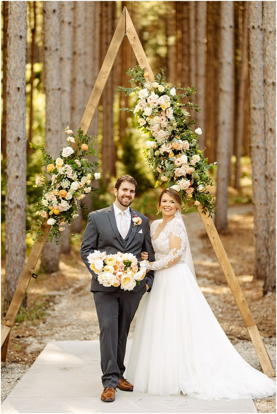 Pinewood Weddings & Events portrait of bride and groom