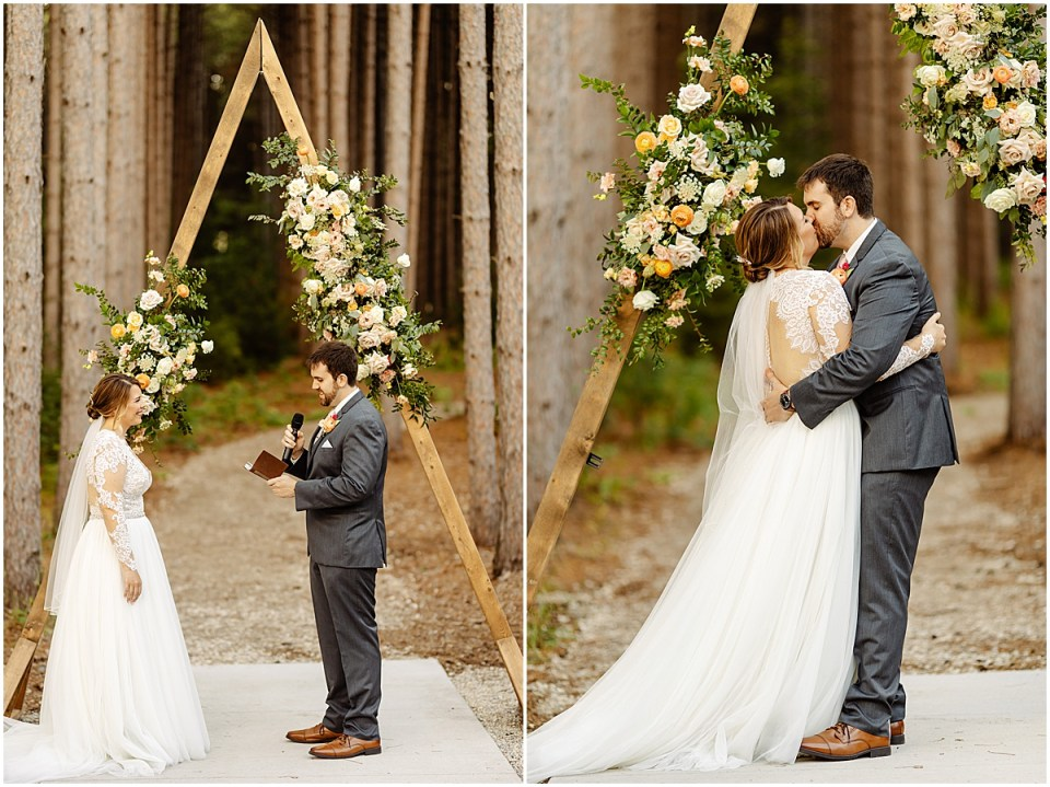 outdoor ceremony at Pinewood Weddings & Events