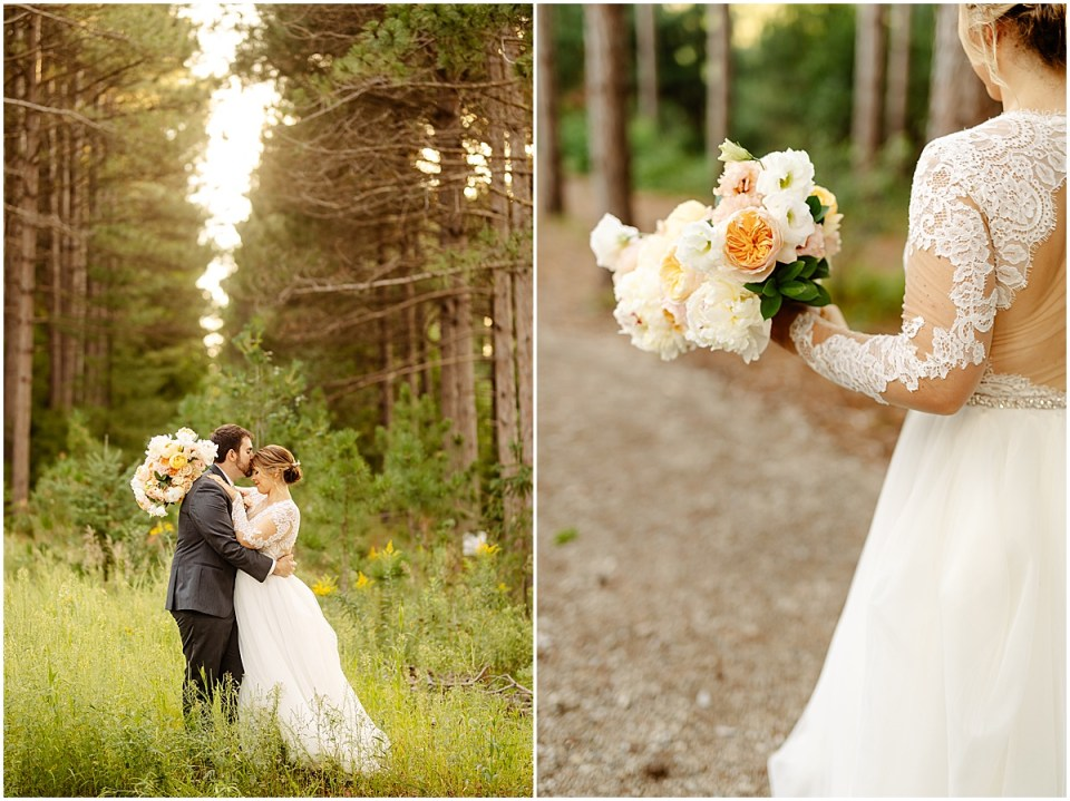 golden hour at Pinewood Weddings & Events
