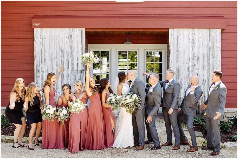 bridal party outdoor photos at Almquist Farm MN
