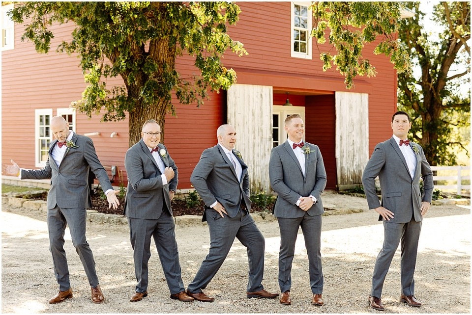 groomsmen photos at Almquist Farm MN