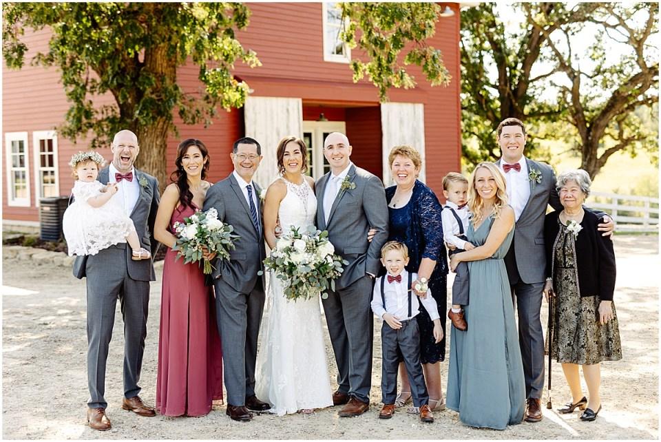family photo at Almquist Farm MN