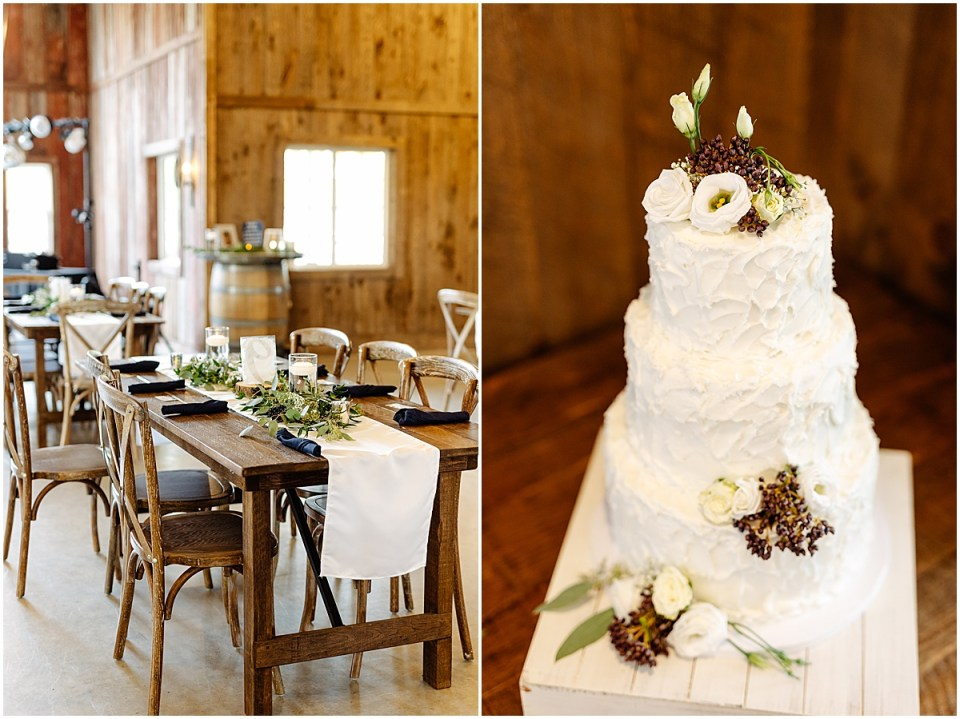 inside reception at the red barn farm