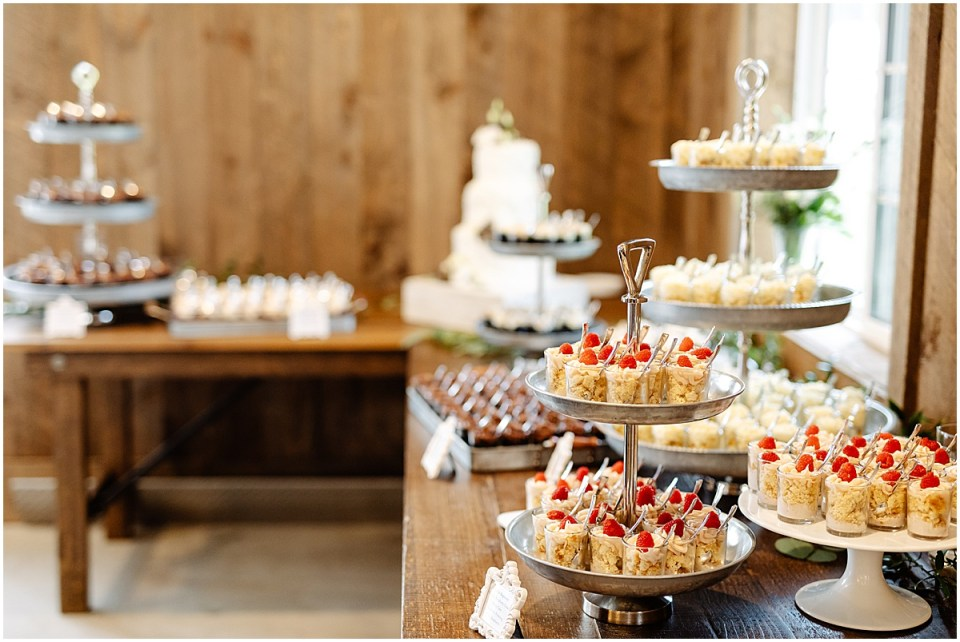 love story cakes at red barn farm wedding