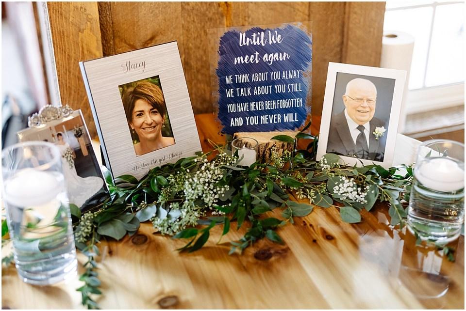 remembering at red barn farm wedding