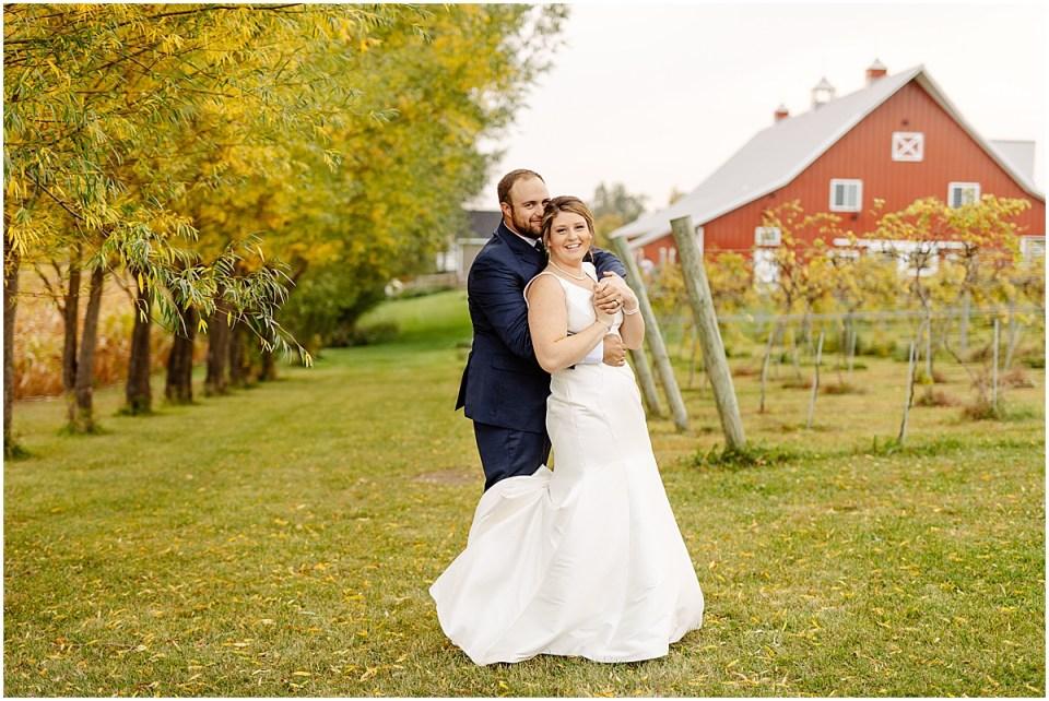 wedding portraits golden hour the red barn farm