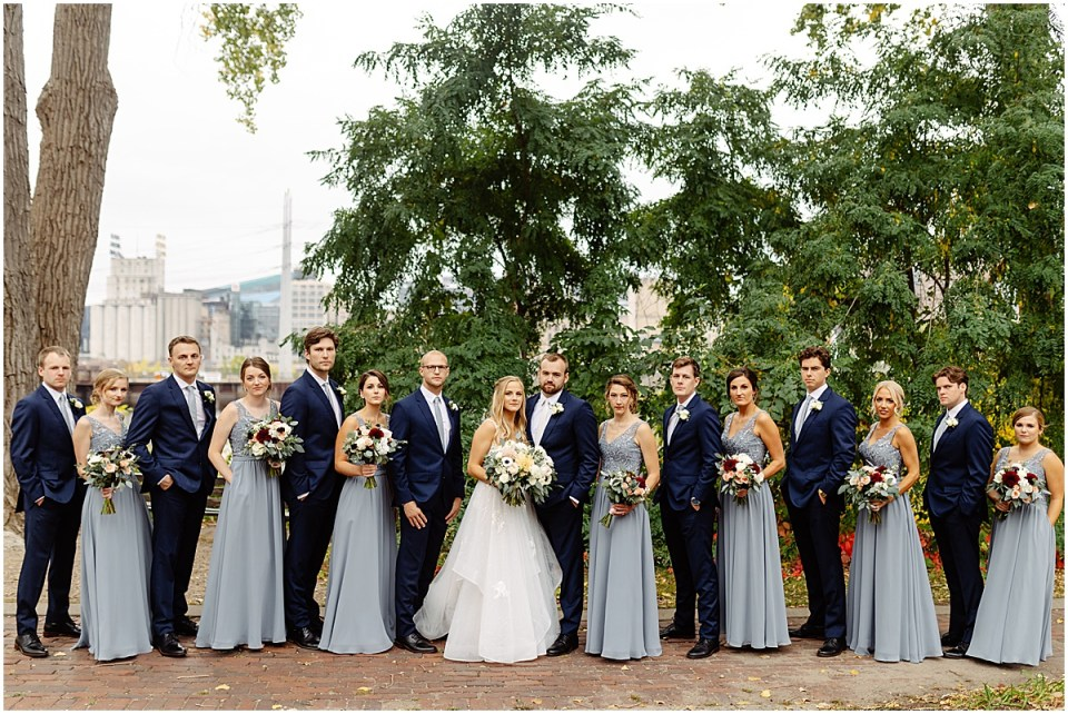 Full bridal party at The Grand 1858 Minneapolis