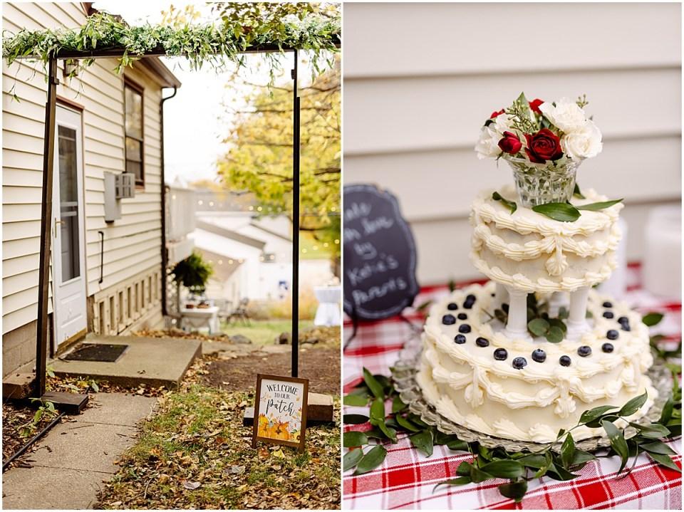 Backyard wedding fall