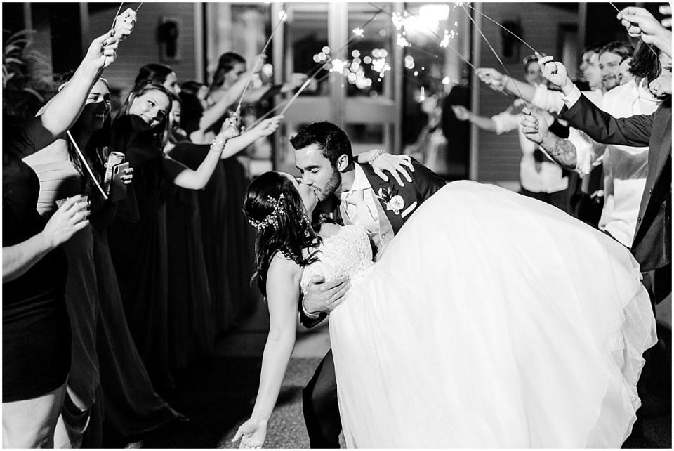 sparkler exit at Leopold's Mississippi Gardens Wedding