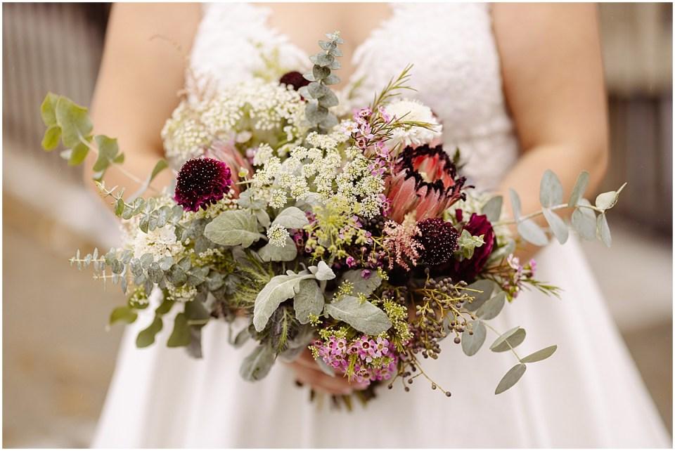 Brides bouquet green & mauve by Ashley Skeie florals Minnesota