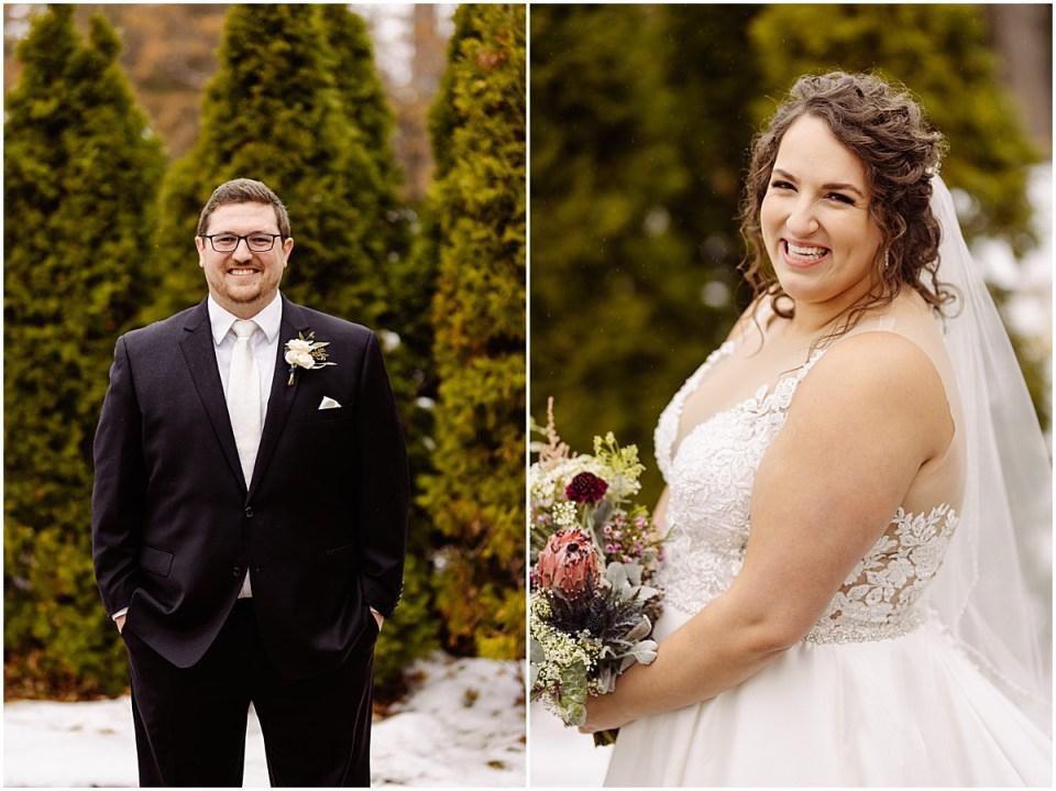 wedding portraits at St. Paul College Club