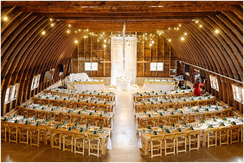 Swiss Acres reception barn for a wedding