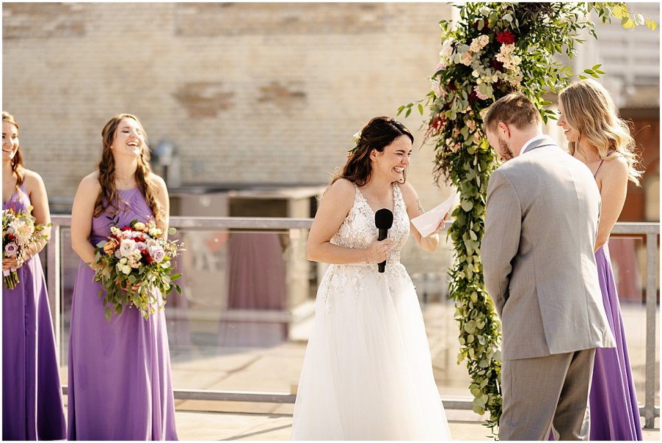 A'BULAE wedding rooftop ceremony