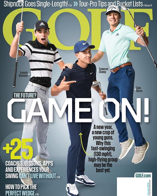 Golf Magazine cover featuring Cameron Champ
