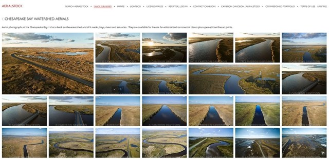 Collection of aerial photographs of the Chesapea Bay