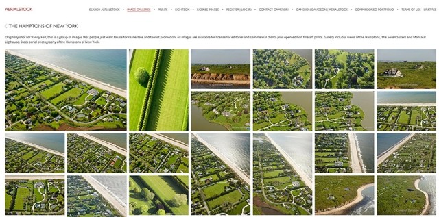 aerial photographs of the hamptons on long island
