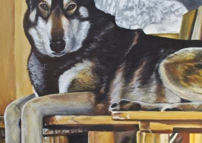 2012-09 - Commissioned Pet Portrait Painting - Rebel I