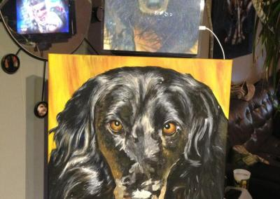 2013-03 - Commissioned Pet Portrait Painting - Molly - in progress
