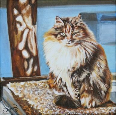 2015-01 – Commissioned Pet Portrait Painting by Cameron Dixon – Chiquitou